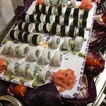 Sushi im Abendbuffet