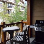 Balcony with barbecue