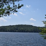 View from dock across Kezar Lake.