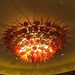 chandelier by the gift shop