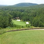 The par 3 #5 taken from the tips! 170-foot drop from tee to green.