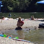 Johnson Beach on the Russian River is a short walk