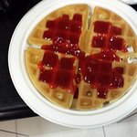 waffle strawberry coulee