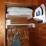 Closet space, iron and additional pillows