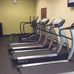 Exercise room doesn't have much as far as weights