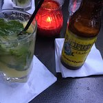 Fresh Pineapple Basil Mojito- very refreshing!