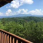 View of Mt. LeConte from porch.