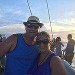 On the sunset cruise