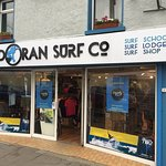 Surf shop located on the main street with easy access to the surfing beach