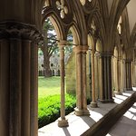 Pretty Gothic colonnade for the abbey
