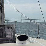 A Great View From A Sailboat Sailing Under The Bridge!