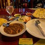 Chicken Madras + basmati rice + naan - Namaste India - on Bùi Viện Street int he Backpacker Dist