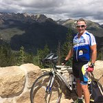 Biked Trail Ridge Road from Estes to Grand Lake, and return