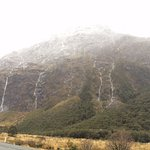 This is the scenic drive to Milford sound. Waterfalls EVERYWHERE!