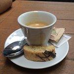 Mini biscotti served with the espresso.