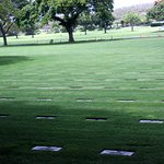 all grave markers are flat due to seismic activity in the area