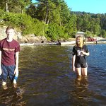 Our teenagers enjoyed the beach and lake upon arrival. We had several great swims after this!