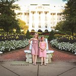 my girls, enjoying a walk in the evening on their first trip to America's resort