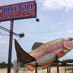 You can't miss the big fish out front!