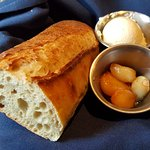 Bread, butter, and garlic.
