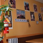 Images on the walls tell the story of the life and customs of the restaurant's owners.