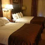 Room with 2 queen beds (view of beds)