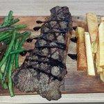 NZ Sirloin steak with ulu (breadfruit) chips...