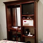 dressing table, LCD tv, coffee-making facility, safe box.
