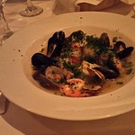 Steamed Merluza (Hake) with mussels, clams & shrimp