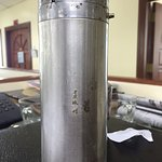 dirty, rusty, old thermos