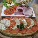 assiette fraîcheur, bruschetta tomate provola