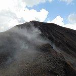 Subida al cráter del volcan