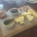 Cheese platter at Waterkloof. Tastes even better than it looks.