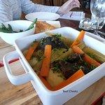 Beef cheek in oxtail stew