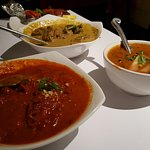 Butter chicken, Beef Korma, and Dhall Makhani