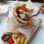 Minced kebab wrap