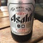 Wagamama ramen, yaki soba and Asahi beer