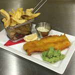 Our freshly prepared Haddock Fish & Chips