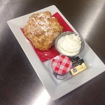 House Made Scone with Cream and Jam