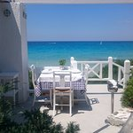 View from the Ouzerie restaurant at Sani Club