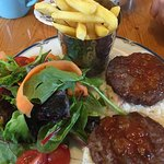 Venison burger from the specials board
