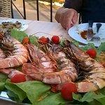 Giant prawns at DaVincis.