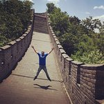 Having the place all to myself, yuppie. At Great Wall of China