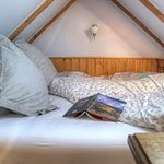 Traditional Welsh box bed in the Hayloft