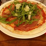 Delicious pizza! Service was great. The waiter was extremely friendly and helpful. We had a star