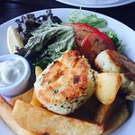 The fish cake & chunky chips