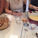 The delicious cheese fondue we had on our first night