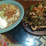Vegetable and mix near fajitas