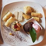 Dessert selection - sharing plate