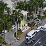 Looking down Kalakaua Avenue.